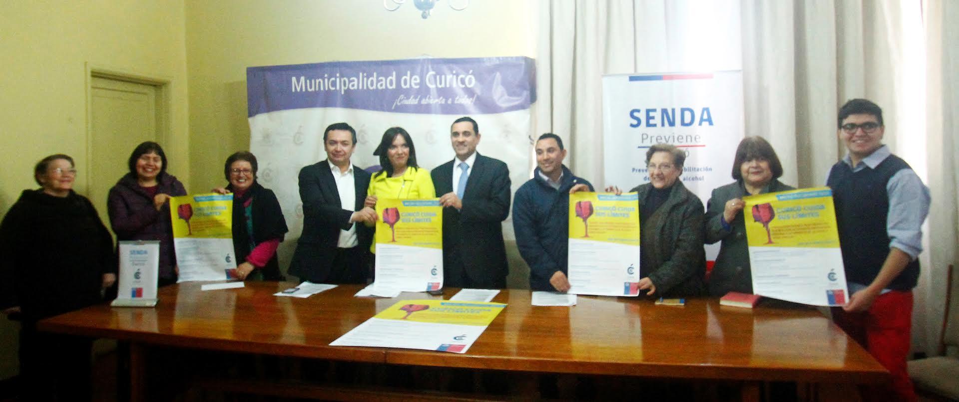 Se lanzó primer fondo concursable 'Curicó, Cuida sus Límites'