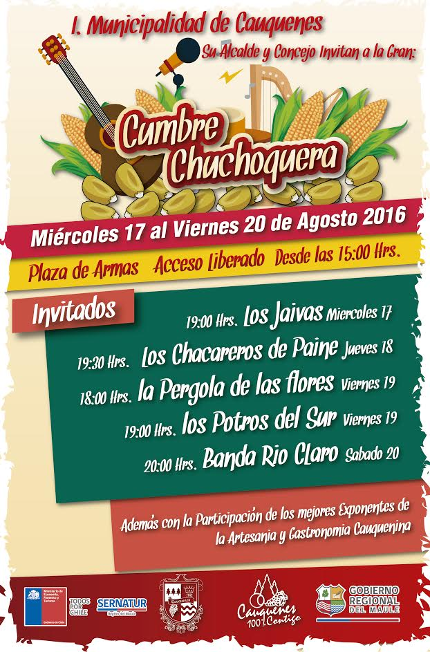 Los Jaivas se presentan en Cauquenes dando inicio a la Cumbre Chuchoquera