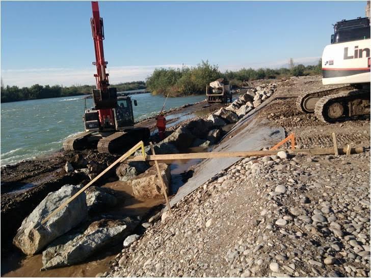 MOP construye defensas fluviales en los ríos Teno, Mataquito, Maule, Loncomila y Achibueno