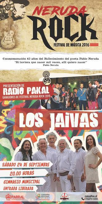 Este sábado se realizará III Festival Neruda Rock en Parral
