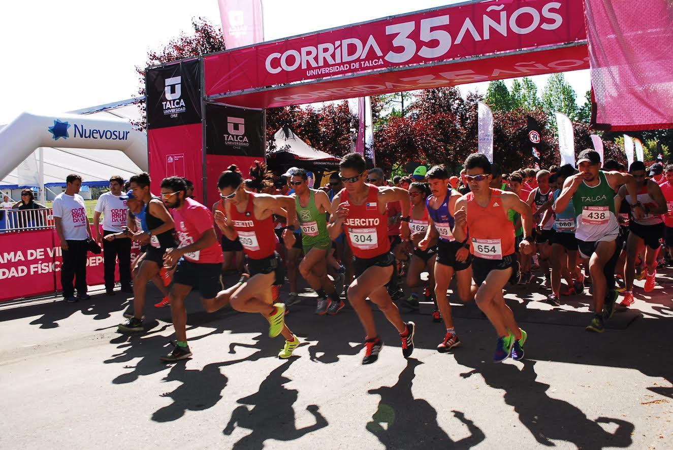 Con reconocidos atletas la UTalca celebró corrida saludable en su XXXV aniversario
