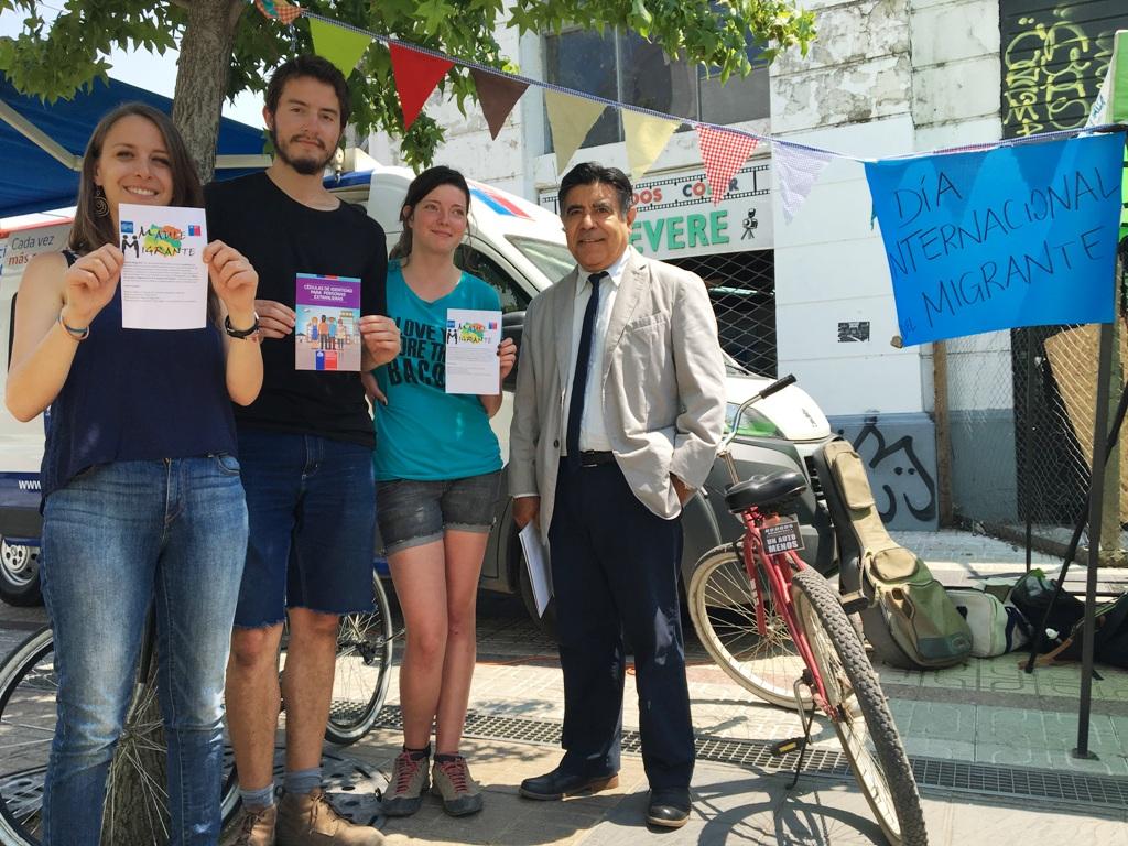 Celebran Día Internacional del Migrante con Plaza Ciudadana en Talca