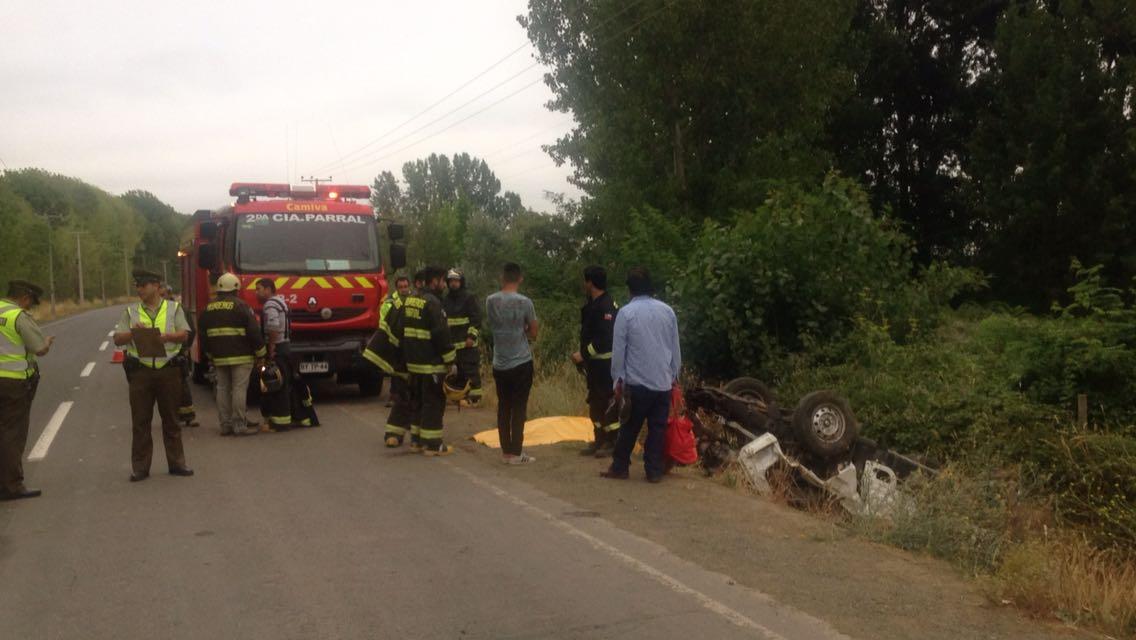 Accidente en ruta Parral-Cauquenes: Tres personas mueren y una niña permanece grave
