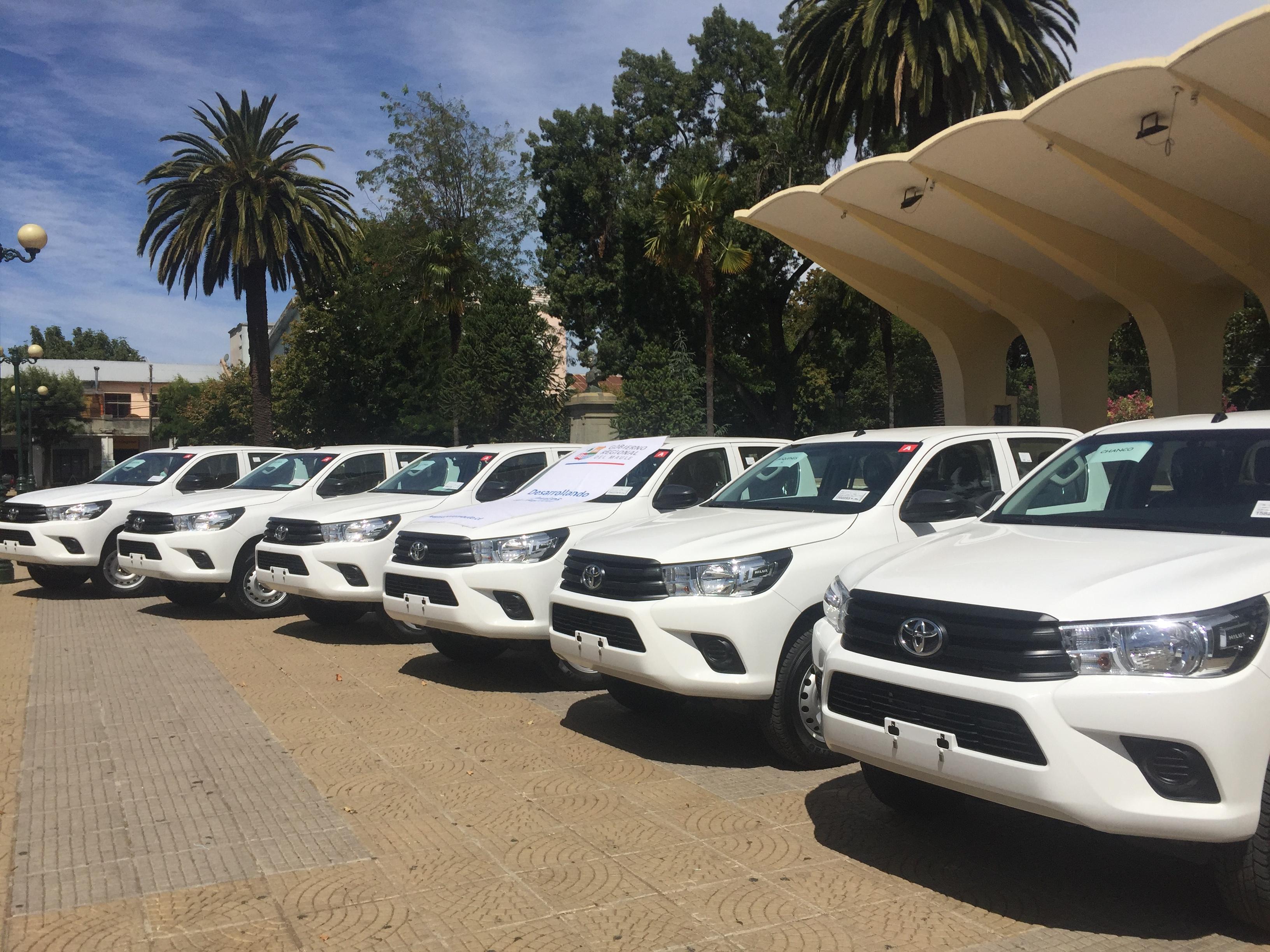 CORE entrega flota de vehículos en provincia de Cauquenes