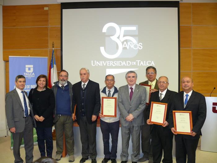 Académicos UTALCA fueron distinguidos por el Colegio de Ingenieros de Chile