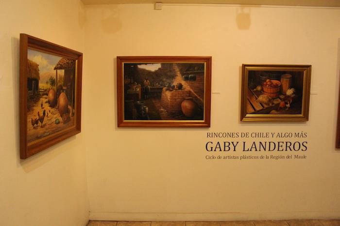 Óleos y pinturas es se exhiben en el Centro de Extensión de la UTalca