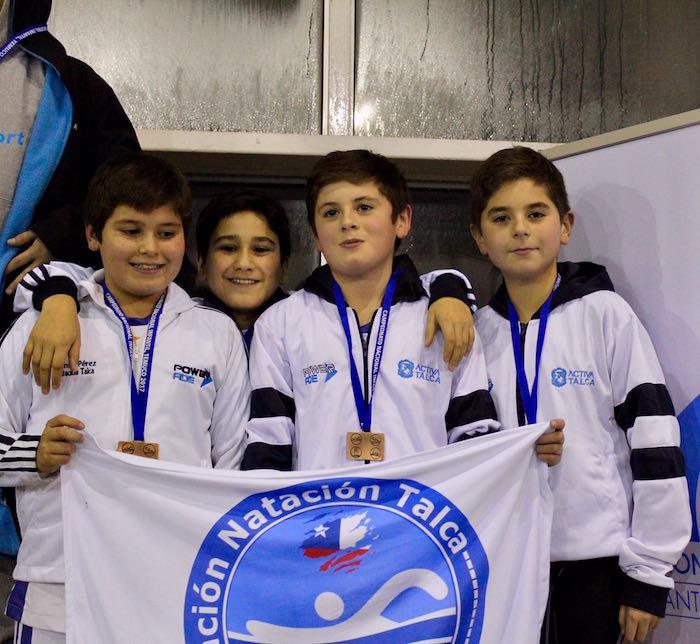 Talca campeón nacional de natación infantil