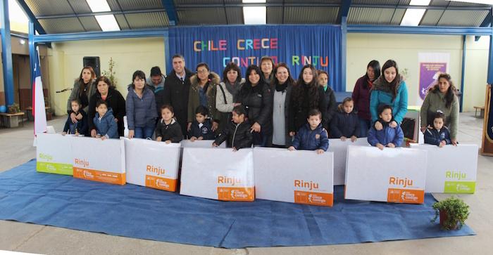 Párvulos de la educación municipal recibieron equipamiento infantil RUNJI