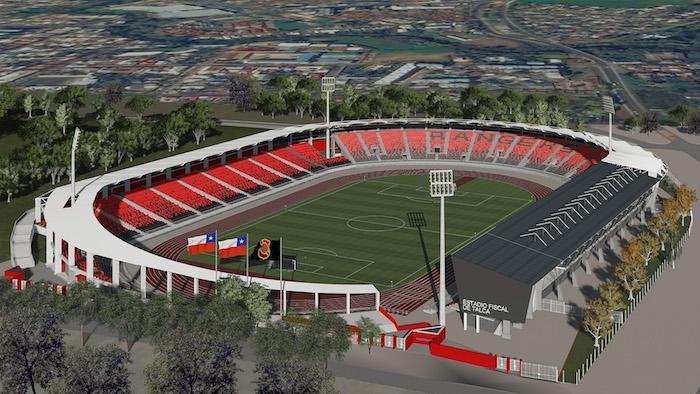 Más de mil 700 metros cuadrados contempla ampliación del Estadio Fiscal de Talca