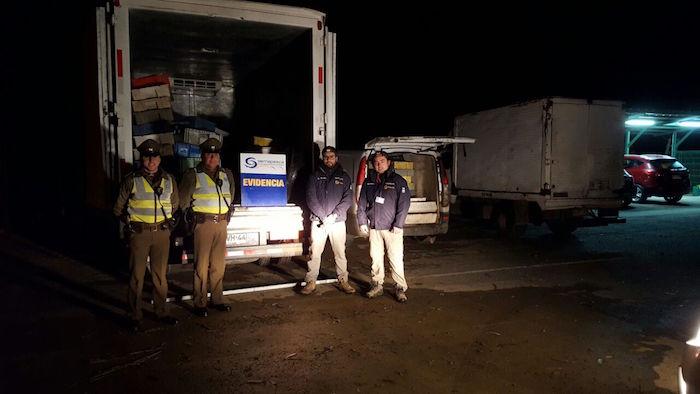 Sernapesca y Carabineros incautan 2,4 toneladas de merluza común y otros recursos de pesca ilegal