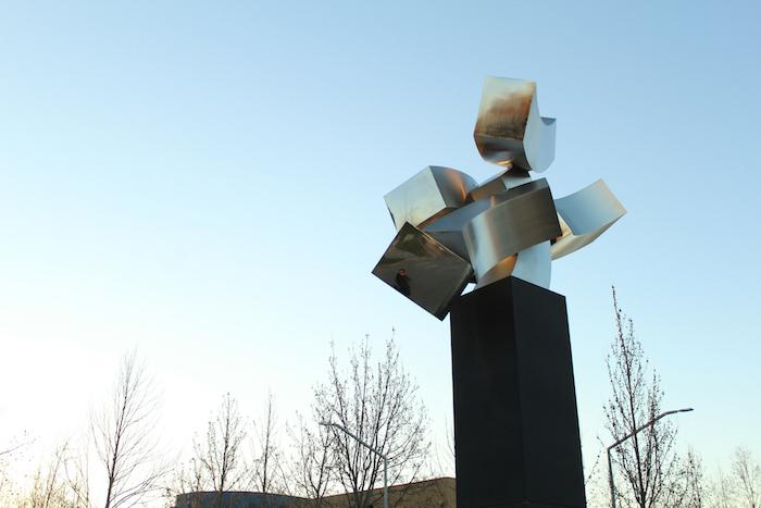 Escultura de acero en gran formato se inaugurará en UTalca