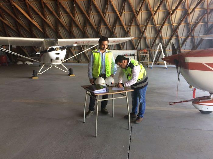 MOP inicia trabajos de conservación del Aeródromo Panguilemo de Talca