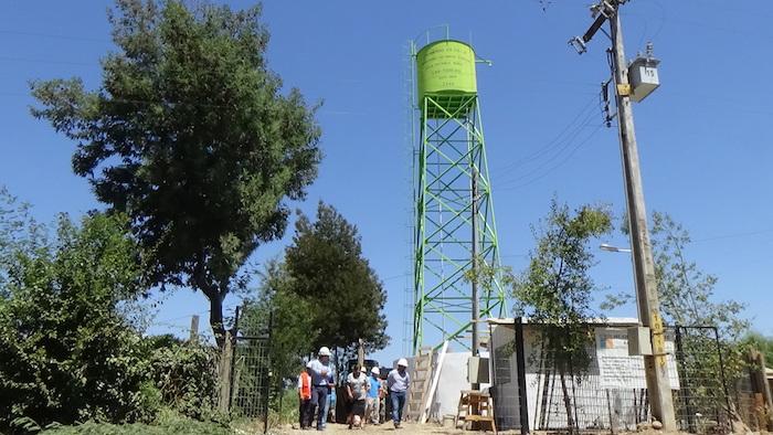 MOP avanza en la ampliación del sistema de agua potable rural Las Toscas de Linares