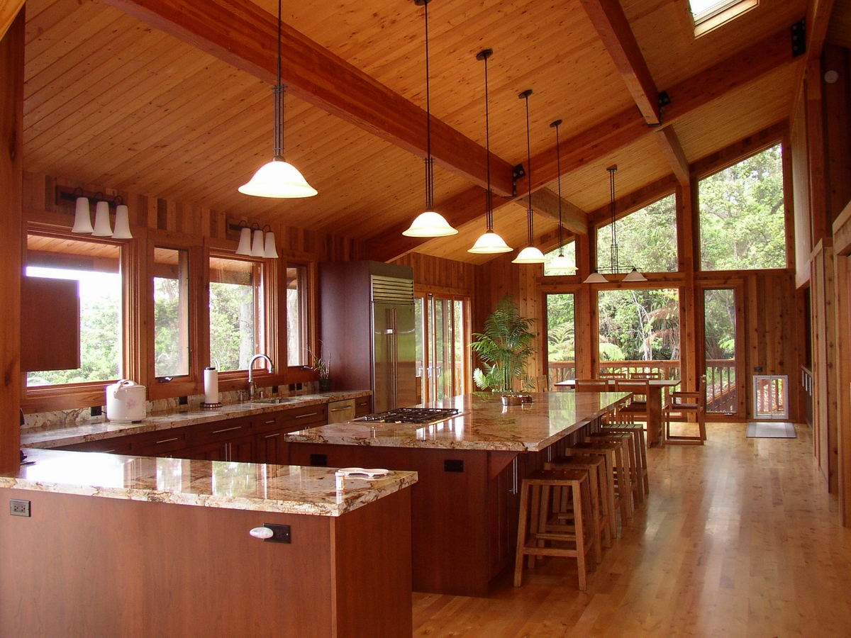 Best Kitchen Gallery: Mauna Loa Cedar Homes Hawaii Custom Home Builder Post Beam Log of Post And Beam Home Designs  on rachelxblog.com
