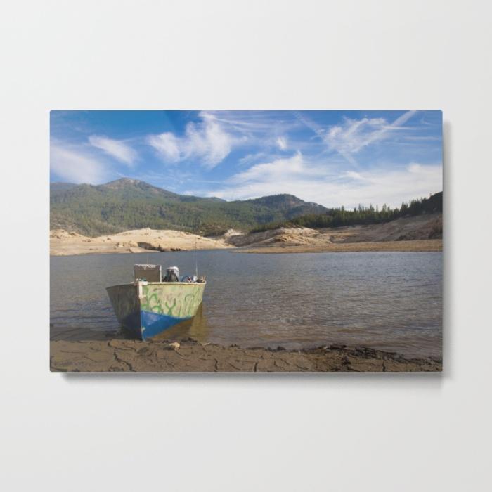 boat-at-waters-edge-metal-prints