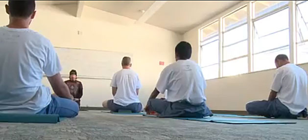 Prisoners doing yoga