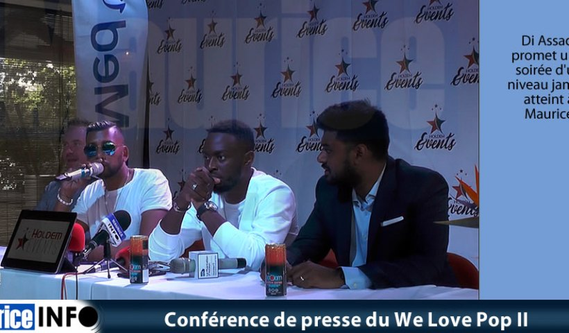 Conférence de presse du We Love Pop II