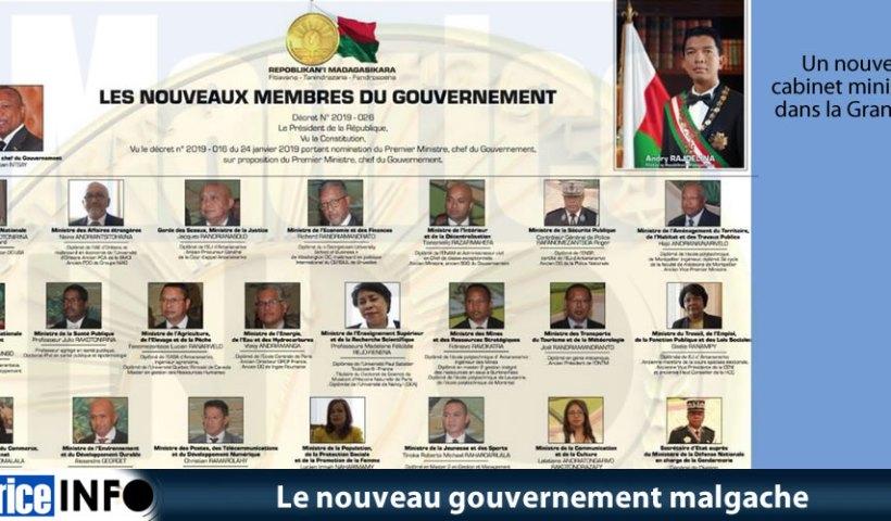 Le nouveau gouvernement malgache à la tête