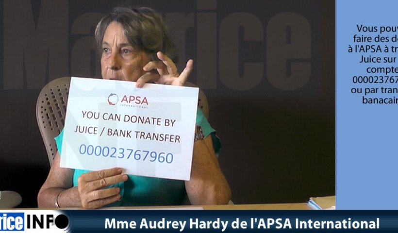 Mme Audrey Hardy d' APSA International