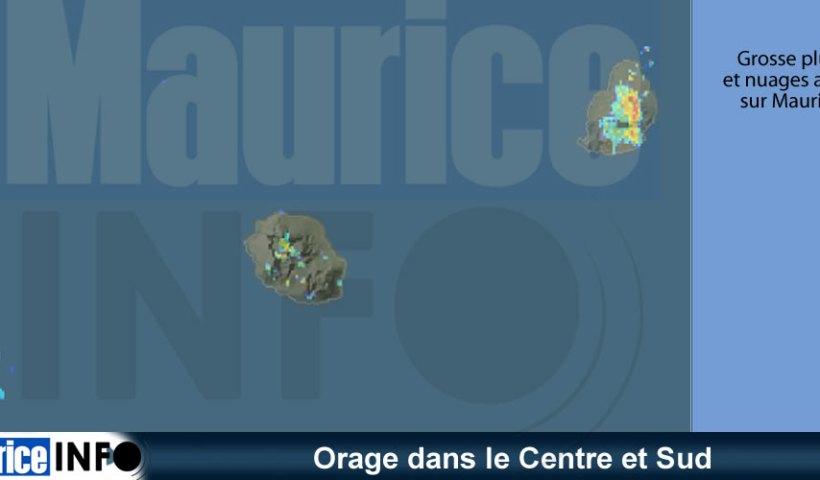 Orage dans le Centre et Sud © Météo France Réunion
