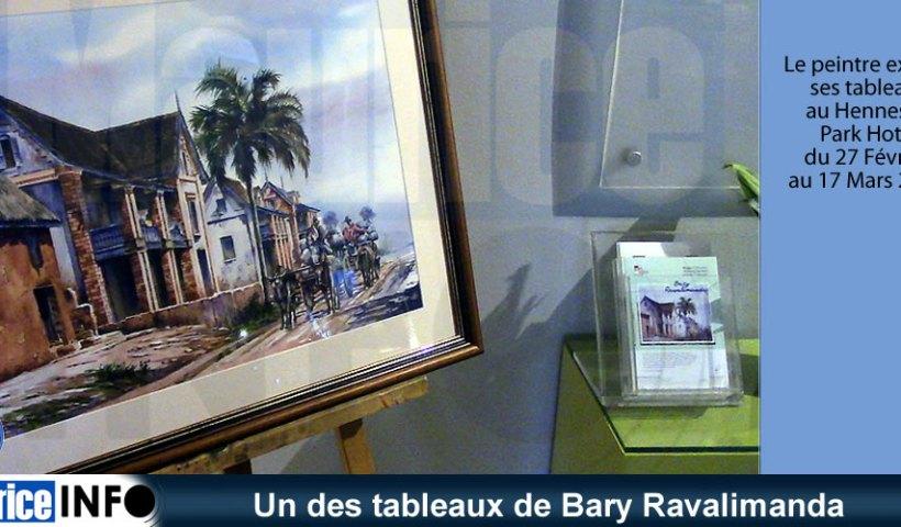 Un des tableaux de Bary Ravalimanda