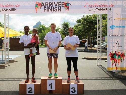 Les grandes gagnantes de la première édition « Les Foulées de Cap Tamarin »