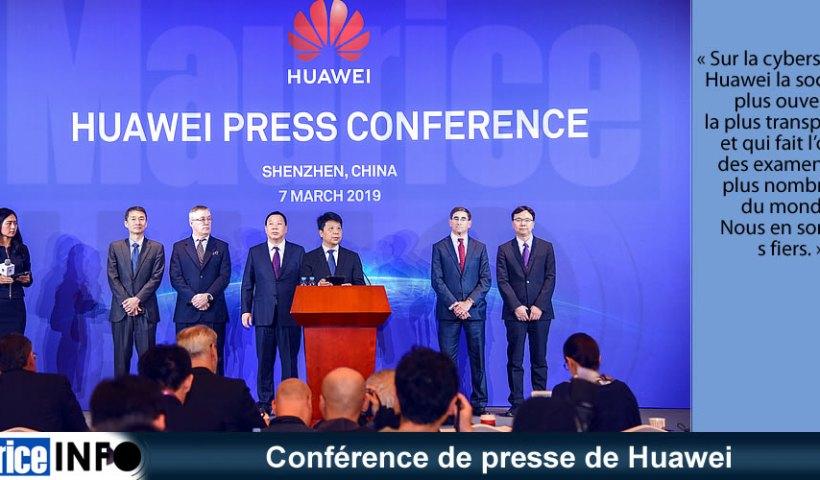 Conférence de presse de Huawei