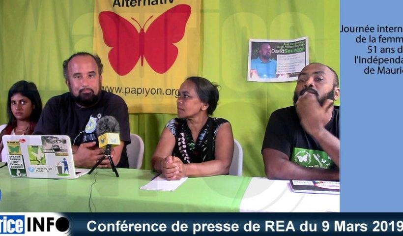 Conférence de presse de REA du 9 Mars 2019