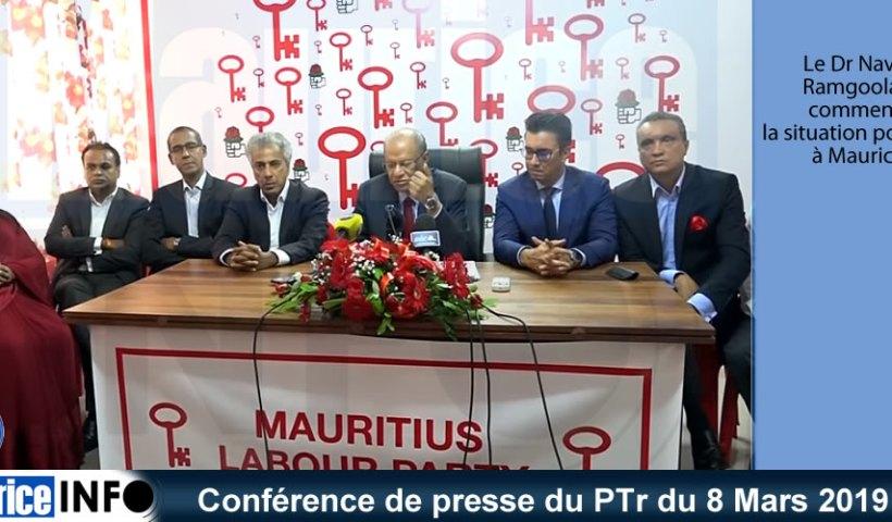 Conférence de presse du PTr du 8 Mars 2019