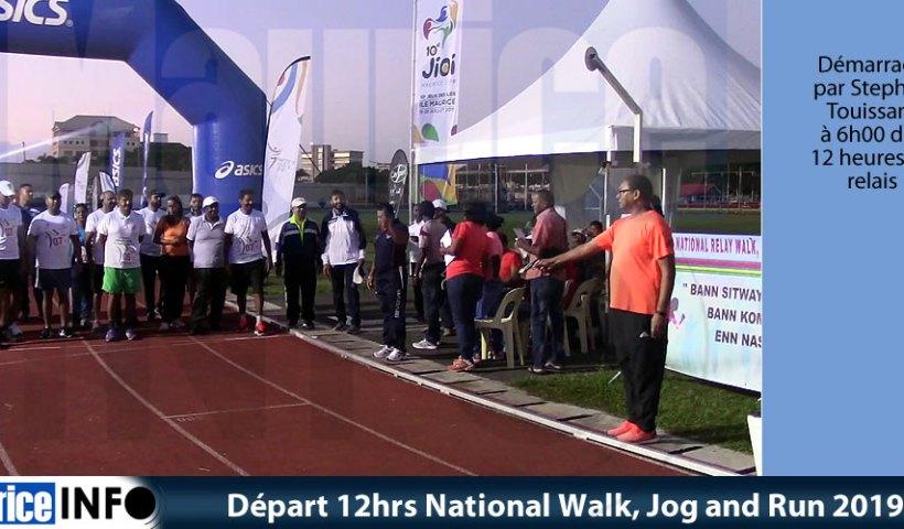 Départ 12hrs National Walk Jog and Run 2019