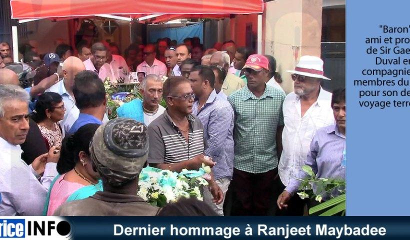 Dernier hommage à Ranjeet Maybadee