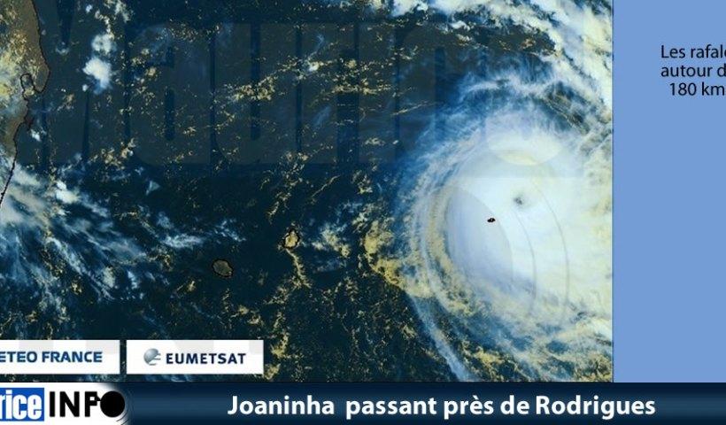 Joaninha passant près de Rodrigues