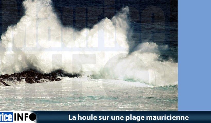 La houle sur une plage mauricienne