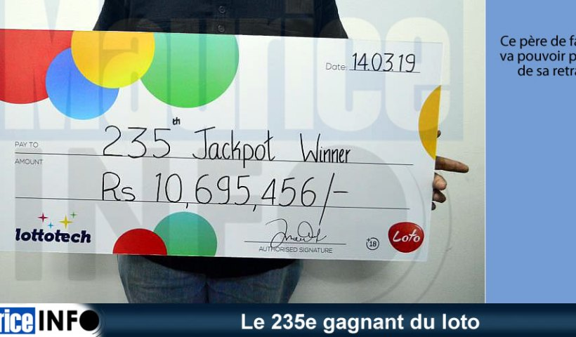 Le 235e gagnant du loto