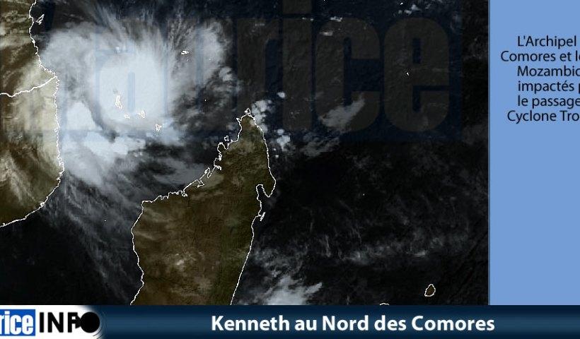 Kenneth au Nord des Comores © Eumetsat