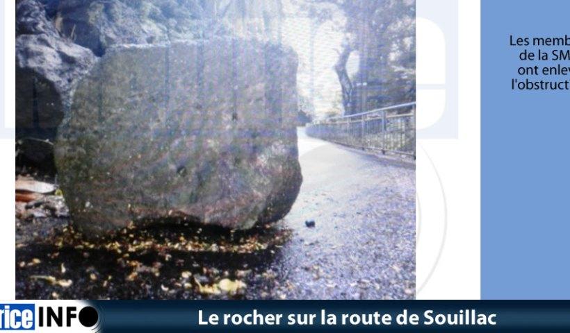 Le rocher sur la route de Souillac