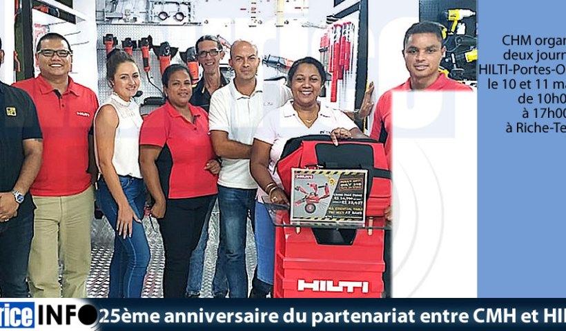 25ème anniversaire du partenariat entre CMH et HILTI
