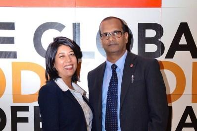 Sallah-ud-din (Den) Surfraz et Mala Yantee Bonomaully, la nouvelle vice-présidente du Network Panel.