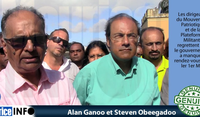 Alan Ganoo et Steven Obeegadoo ont dit