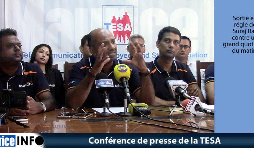 Conférence de presse de la TESA