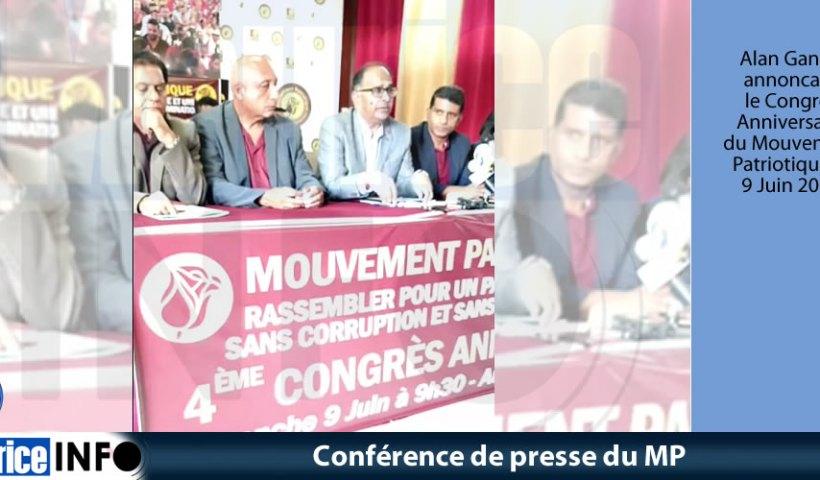 Conférence de presse du MP