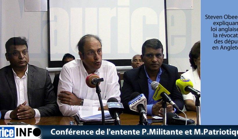 Conférence de presse Plateforme Militante et Mouvement Patriotique