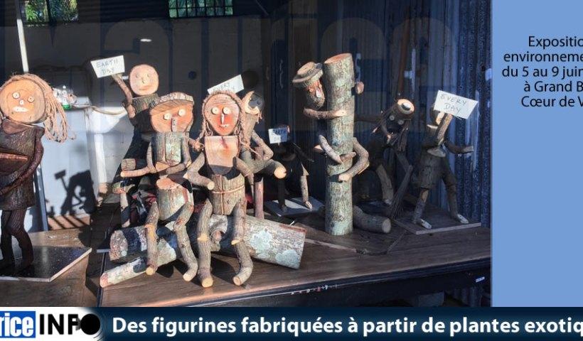 Des figurines fabriquées à partir de plantes exotiques