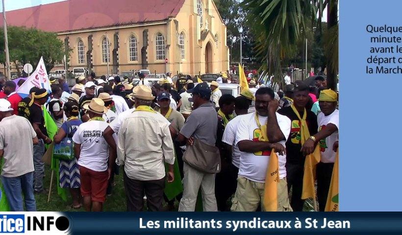 Les militants syndicaux à St Jean