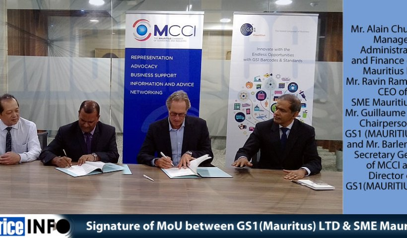 Signature of MoU between GS1(Mauritus) LTD & SME Mauritius