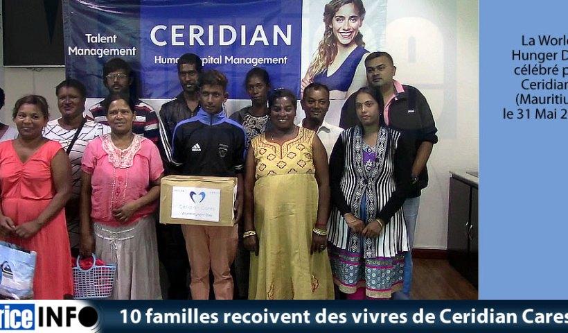 10 familles recoivent des vivres de Ceridian Cares
