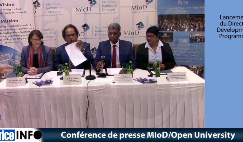 Conférence de presse MIoD -Open University