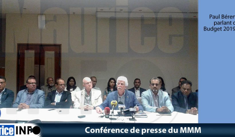 Conférence de presse du MMM