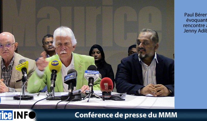 Conférence de presse du MMM du 1er Juin 2019