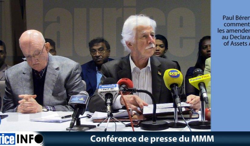 Conférence de presse du MMM du 22 Juin 2019